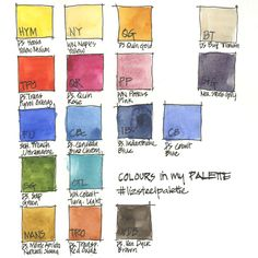 Colours in my palette: Green and turquoise - Liz Steel : Liz Steel Watercolor Pallet, Watercolor Mixing, Watercolor Ideas, Watercolor Painting, Vibrant Colors, Colours, Earth Color, Color Harmony, Watercolour Tutorials