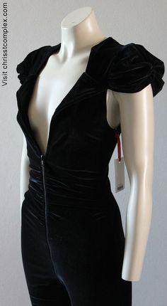 Catsuit Velvet. High gothic velvet Chrisst catsuit. by chrisst, $298.00 special order boot cut legs!