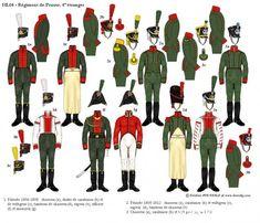 Rgt de Prusse 4ème Rgt étranger.  À la requête de l'Empereur, le Prince Charles Frédéric Louis d'Isembourg lève à Leipzig un «Régiment de Prusse» constitué de déserteurs prussiens en 1806. Cette unité prendra part à la Guerre d'Espagne. Le 3 août 1811, ce régiment devient le 4e Rgt étranger. Le 25 novembre 1813, le Rgt de Prusse est dissous par décret et les hommes de confiance sont versés au 3e Rgt étranger tandis que les autres sont affectés à un Rgt de pionniers formé le 19 décembre.