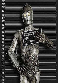 Star Wars fans will like this C3PO piece by Tony Rubino.