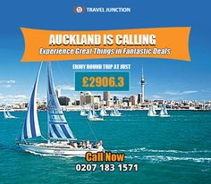 #Auckland is a beautiful place where tourists will get stunning experience from the blessed beauty, amazing culture and numerous other #attractions. Book #cheapflight tickets now, call at: 0207 183 1571
