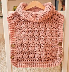 Rose Poncho - Pullover Crochet pattern by Mon Petit Violon Crochet Pullover Pattern, Poncho Au Crochet, Crochet Yarn, Crochet Hooks, Free Crochet, Ravelry Crochet, Caron Simply Soft, Poncho Pullover, Crochet Patterns