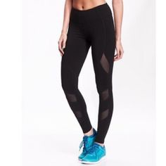 Old Navy active mesh panel leggingslimited time Bought this size thinking I could make them work but they are just too big :( super sad as I LOVE these. It was the last pair so hoping someone else is looking for them too and I can share the love. They are sold out online and in most stores. Similar style to popular lululemon styles. Listed so I can make back what I spent on them. If these aren't bought I'll be returning them to the store in a few days get them now!! Old Navy Pants Leggings