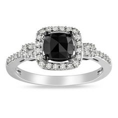 @Overstock.com - Miadora 14k White Gold 1ct TDW Cushion-cut Black and White Diamond Halo Ring (G-H, I1-I2) - Black and white diamond ring14-karat white gold jewelry Click here for ring sizing guideGift box included  http://www.overstock.com/Jewelry-Watches/Miadora-14k-White-Gold-1ct-TDW-Cushion-cut-Black-and-White-Diamond-Halo-Ring-G-H-I1-I2/6246435/product.html?CID=214117 $607.49