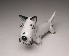 Adorable Art Deco style Sky Terrier in porcelain designed by German artist extraordinaire Walter Bosse for Metzler & Orloff, Germany, circa ...