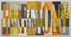 Community is the theme of this years fundraiser.  Created with papers and encaustic.