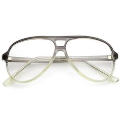 a4276097fe0c7 Retro Transparent Flat Top Teardrop Clear Lens Aviator Eyeglasses 56mm