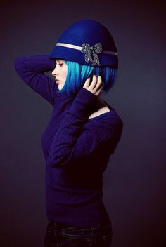 The original photograph that was used on The Lies That Bind cover - Blue by Marie KillenHow cool is this? The original photograph that was used on The Lies That Bind cover - Blue by Marie Killen Fashion Moda, Blue Fashion, Azul Real, Love Hat, Something Blue, Blue Hair, Midnight Blue, My Favorite Color, Shades Of Blue