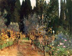 Florence: A Garden / John Singer Sargent - circa 1910