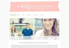 Photography Blogger Template - The Katy Photog Template. $40.00, via Etsy.