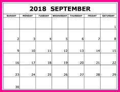 55 best september 2018 calendar template images on pinterest in 2018 september 2018 calendar word with holidays maxwellsz