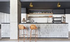 Love those bar stools, and the tiles on the bar! Travel Directory - Boro Hotel - New York, USA | Wallpaper* Magazine