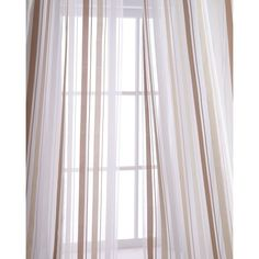 Home Silks Each 50W x 96L Devon Curtain (505 RON) ❤ liked on Polyvore featuring home, home decor, window treatments, curtains, white, stripe sheer curtains, white window treatments, striped curtains, sheer window treatments and white sheer curtains