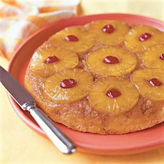 Pineapple upside down cake.  Southern Living has one of the best recipes!  http://www.southernliving.com/food/kitchen-assistant/pineapple-upside-down-cake-recipe-00417000072424/