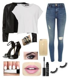 """Untitled #73"" by kafigueroa on Polyvore featuring Maglie I Blues, River Island, Fiebiger and NARS Cosmetics"