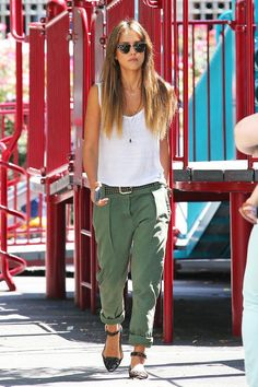 Jessica Alba seen with daughter Haven Garner in downtown, New York City.