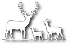 Karten-Kunst - Stempel- und Scrapbook-Shop - Memory Box Stanzschablone - Deer Trio