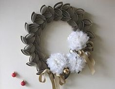 Fabulous Wreath from Toilet Paper Rolls | AllFreeHolidayCrafts.com