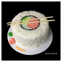 Sushi Cake, Custom Cakes, Tableware, Crack Cake, Personalised Cakes, Dinnerware, Personalized Cakes, Dishes, Place Settings