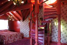 "eyesaremosaics: ""Love nest suite at the Madonna Inn "" Interior Architecture, Interior And Exterior, Retro Interior Design, Vintage Hotels, Barbie Dream House, Vintage Room, Pink Room, Aesthetic Bedroom, Dream Rooms"