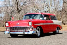 1956 Chevrolet Nomad Wagon Car Chevrolet, Car Ford, My Dream Car, Dream Cars, Chevy Nomad, Ford Girl, Suv Trucks, Fish House, Radio Flyer