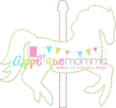 Carousel Horse Vintage Embroidery Design
