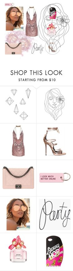 """GIRLS NIGHT"" by alicevvs ❤ liked on Polyvore featuring Umbra, PBteen, Chanel, Various Projects, Quay, Marc Jacobs and Marc by Marc Jacobs"
