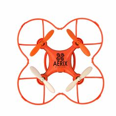 """US PATENT NUMBER D767,043 Do Not Accept Copies or Counterfeits! FREE US SHIPPING! CLICK HERE FOR SPARE PARTS FOR BEGINNER DRONE Funded on Indiegogo, The Aerix Nano Drone for Beginners is """"The Ultimate"""