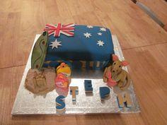 Australian themed cake. Australia Cake, Animal Cakes, Australian Animals, Party Themes, Party Ideas, Themed Cakes, Let Them Eat Cake, 2nd Birthday, Fondant