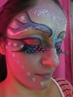 Maquillaje de Fantasia por mi hermana @Sandra Torres también realiza para novias, fiesta, formal y otros :-)