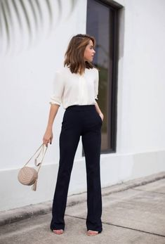 If I ever wear wide-leg pants again, I want them to look like this