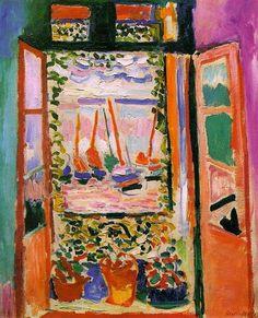 Open Window, Collioure - Henri Matisse Artista: Henri Matisse  Fecha de finalización: 1905  Estilo: Fovismo  Genero: paisaje  Técnica: óleo  Material: canvas  Galeria: Private Collection
