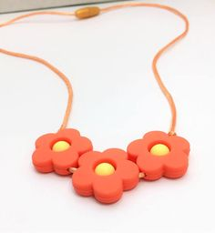 Chew Necklace / Sensory Necklace / Silicone Teething Necklace / Autism / Sensory Processing Disorder / Chewie /Chewlery /Flower
