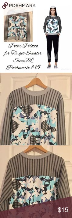 Peter Pilotto for Target Sweater Peter Pilotto for Target sweater size XL. No rips or tears. Wore just a few times. Peter Pilotto for Target Sweaters Crew & Scoop Necks