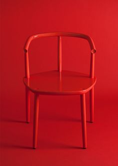 Chair for the Five furniture collection. Made by Japanese craftsmen in solid wood. By Claesson Koivisto Rune for Meetee. Solid Wood Furniture, Furniture Ideas, Furniture Design, Red Interiors, Red Aesthetic, Aesthetic Objects, Shades Of Red, Furniture Collection, My Favorite Color