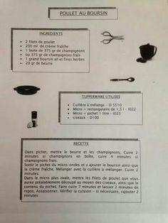 Plat - Poulet au boursin - Tupperware