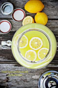 Fresh Squeezed Lemonade!  Made this over the weekend it was amazing!  My husband & I loved it and drank the whole thing this weekend.  So refreshing.
