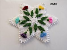 Filet Crochet, Crochet Stitches, Baby Knitting Patterns, Food Art, Diy And Crafts, Crochet Earrings, Make It Yourself, Blanket, Christmas Ornaments