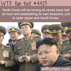 North Korea is establishing its own timezone -   WTF fun facts