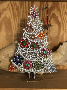 Vintage Czech Exceptional Flower Tree, Taboo Vintage Crystal and Rhinestone Christmas Tree, Stand up tree, Tabletop holiday decoration by MeAndMoma on Etsy