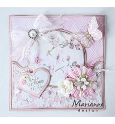 Butterfly Cards, Flower Cards, Marianne Design Cards, Scrapbook Cards, Scrapbooking, Folder Design, Birthday Cards For Women, Embossed Cards, Adult Crafts