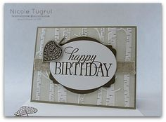 by Nicole: Lighthearted Leaves, Happy Birthday Everyone (host), Leaflets framelits, Woodland embossing folder, & more - all from Stampin' Up!