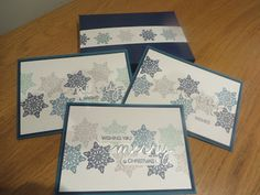 Flurry of Wishes Christmas Card set and matching box tutorial, Stampin' Up UK