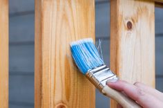 Learn how to faux stain wood with paint. So economical and easy. http://qoo.ly/hqt6q
