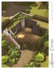 foolish behavior — Milestone Cottage — a tiny home by oxalisim so i. Sims 4 House Plans, Sims 4 House Building, Sims Four, Sims 3, Sims 4 House Design, Casas The Sims 4, Small Cottages, Sims 4 Build, Sims 4 Houses
