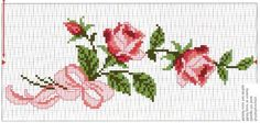 This Pin was discovered by did Cross Stitch Rose, Cross Stitch Baby, Cross Stitch Flowers, Cross Stitch Charts, Cross Stitch Patterns, Cross Stitching, Cross Stitch Embroidery, Owl Quilt Pattern, Rico Design