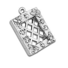 24 pieces - Butterfly Picture Frame Charm - Final Sale