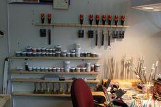 Gallery - Studio - BEADROE Nice lampwork setup