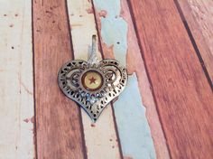 Heart shaped brooch by Priscilla's Emporium on Etsy Sculpture Art, Pocket Watch, Heart Shapes, My Etsy Shop, Brooch, Pendant Necklace, Accessories, Jewelry, Jewlery