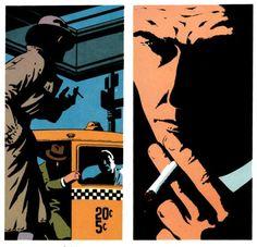 Noir Art by Jim Steranko for Chandler:Red Tide.